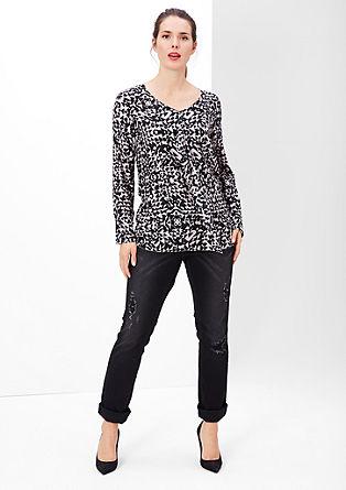 Vzorčasta bluza s svilo