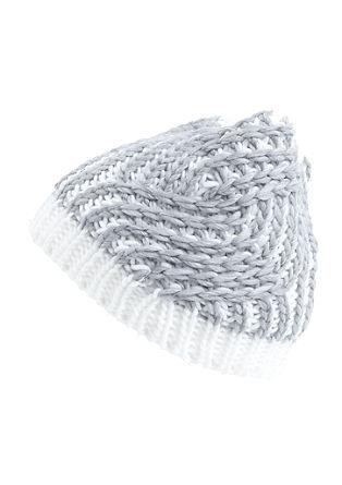 Vzorčasta grobo pletena kapa
