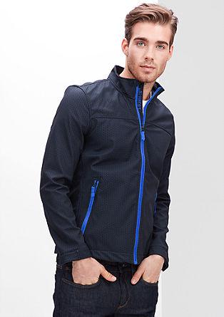 Vzorčasta jakna iz softshella