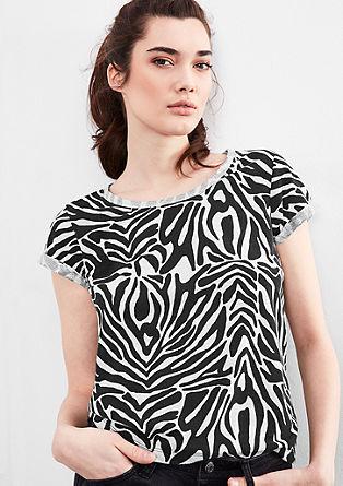 Vzorčasta majica s svetlečimi detajli