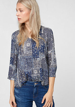 Vzorčasta viskozna bluza
