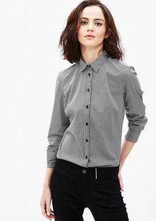 Vzorovaná košilová halenka