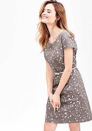 Vzorované šaty z bavlněného saténu