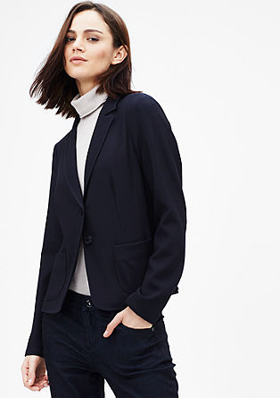 Waffle piqué blazer from s.Oliver