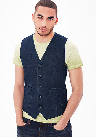 Waistcoat with a fine textured pattern from s.Oliver