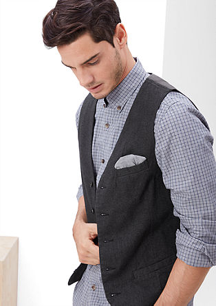 Waistcoat with a herringbone design from s.Oliver