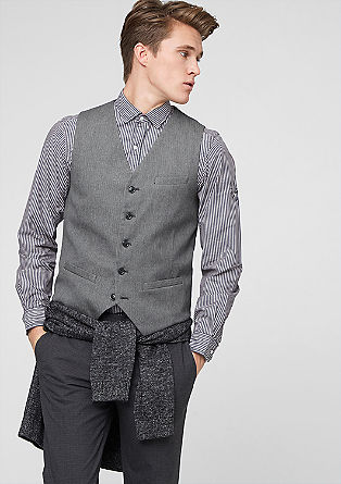Waistcoat with a herringbone pattern from s.Oliver