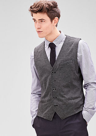 Waistcoat with a houndstooth pattern from s.Oliver