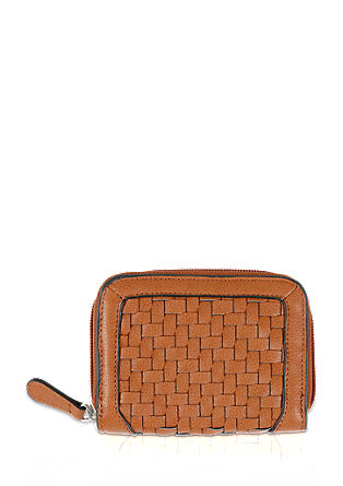 Wallet with a woven front from s.Oliver