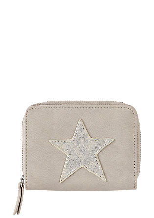Wallet with star appliqué from s.Oliver