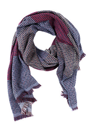 Warm check scarf from s.Oliver