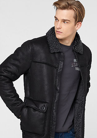 Warm imitation leather jacket from s.Oliver