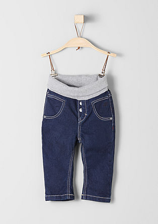 Warm jeans with a ribbed waistband from s.Oliver
