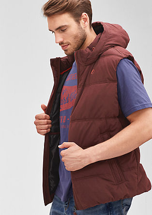 Warm quilted body warmer with a hood from s.Oliver