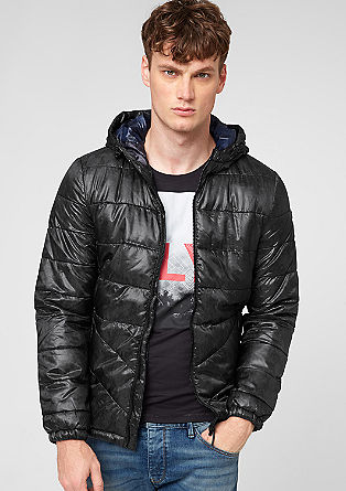 Warm quilted jacket with a hood from s.Oliver