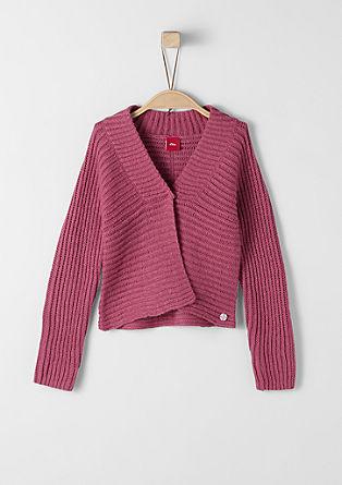 Warm rib knit cardigan from s.Oliver