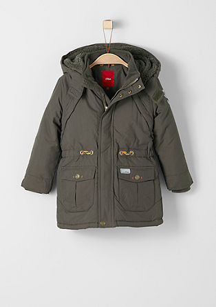 Warm winter coat with plush lining from s.Oliver
