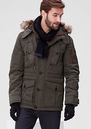 Warm winter jacket with contrasting details from s.Oliver