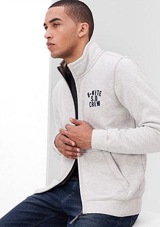 Warm zip-up sweatshirt from s.Oliver