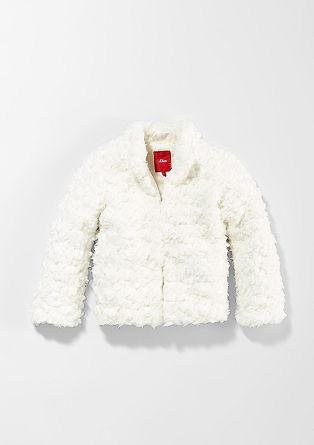 Warme Jacke in Lammfell-Optik