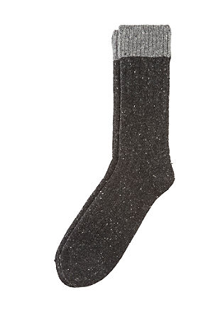 Warme Socken mit Merinowolle