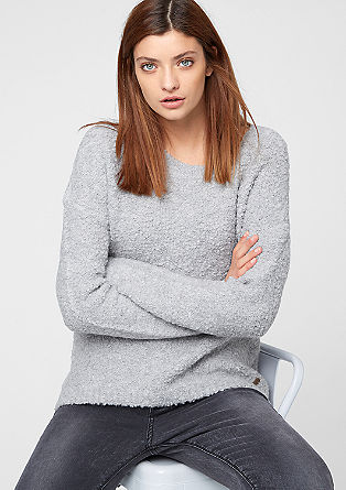 Warmer Bouclé-Pullover