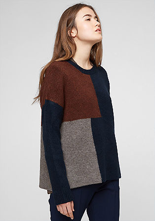 Warmer Woll-Mix-Pullover