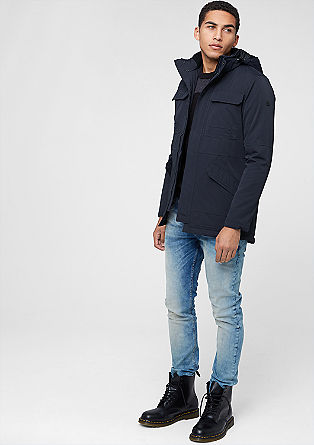 Wasserabweisende Jacke mit Kapuze