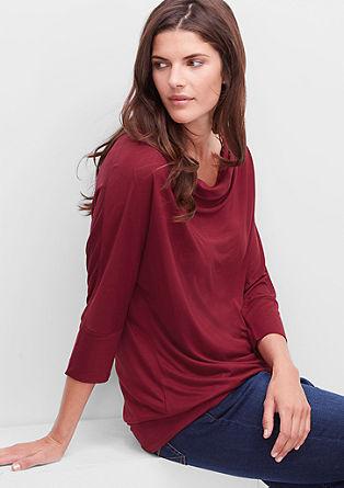 Wasserfall-Shirt aus Viskose