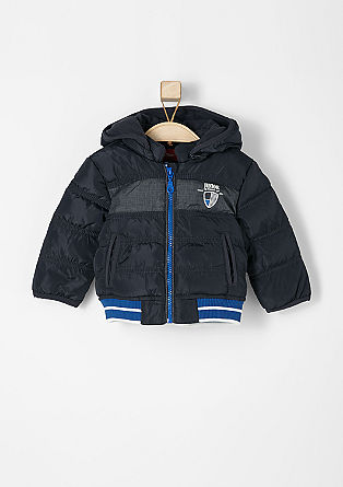 Water-resistant quilted bomber jacket from s.Oliver
