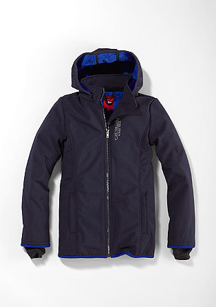 Water-resistant soft shell jacket from s.Oliver