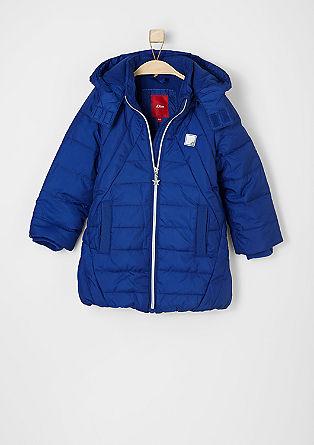 Waterafstotende, gewatteerde mantel