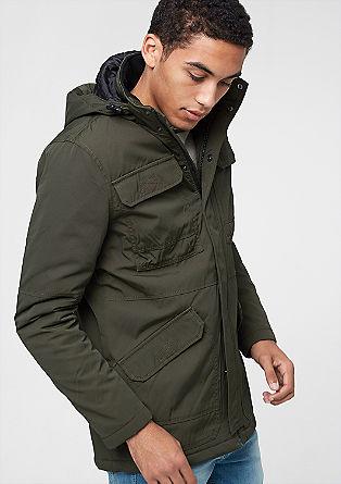 Waterafstotende jas met capuchon