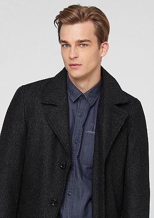 Wattierter Tweed-Mantel