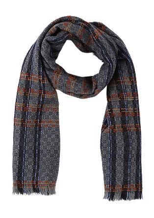 Weicher Schal mit Karo-Webmuster