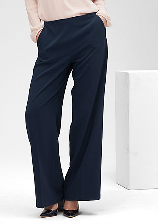 Wide: cloth trousers with a waistband from s.Oliver