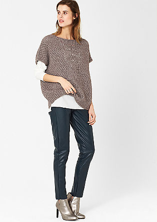 Wide, short sleeve jumper with alpaca from s.Oliver