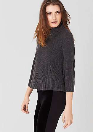 Wide rib knit polo neck from s.Oliver