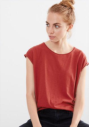 Wide slub yarn T-shirt from s.Oliver