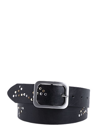 Wide studded belt from s.Oliver