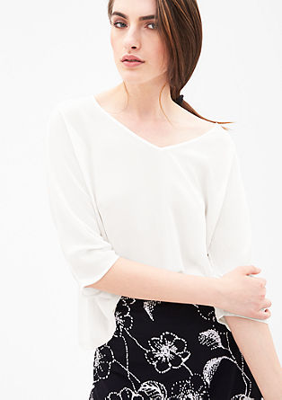 Wijde blouse met een striklint