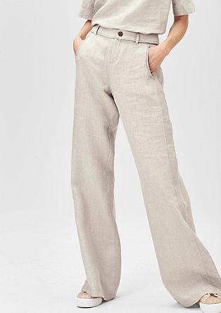 Wijde linnen broek