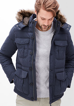 Winter jacket with a fake fur trim from s.Oliver