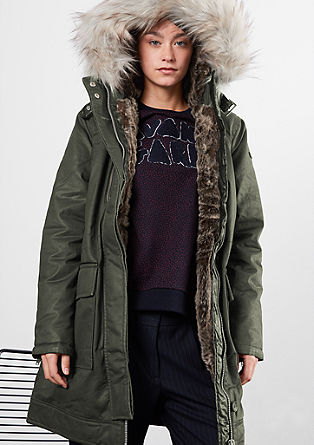 Winter parka with fake fur from s.Oliver