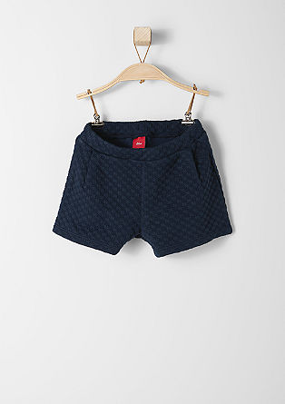 Winter shorts with a textured pattern from s.Oliver