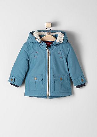Winterjas met een voering van pluche
