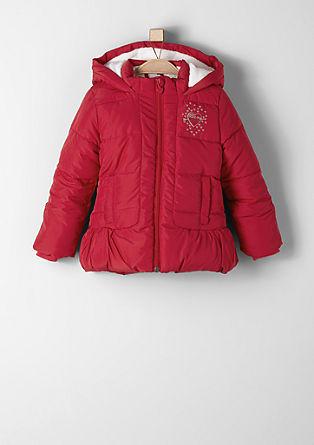 Winterjas met een voering van teddy