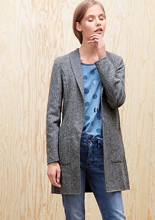 Wollen mantel met de look van een blazer