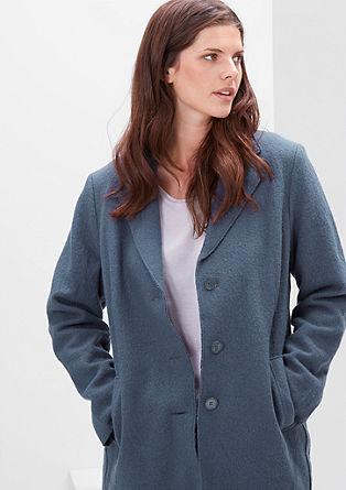 Wollen mantel met vintage-look details