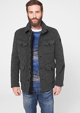 Wollfleece-Jacke mit vielen Taschen